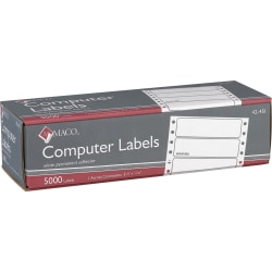 """MACO® High-Speed Data Processing Labels, 42-451, 1 Across, 3 1/2"""" x 15/16"""", White, Box Of 5,000"""