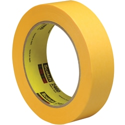 "3M™ 2460 Flatback Tape, 3"" Core, 1"" x 180', Gold, Pack Of 36"