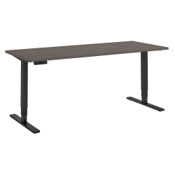 "Bush Business Furniture Move 80 Series 72""W x 30""D Height Adjustable Standing Desk, Cocoa/Black Base, Premium Installation"