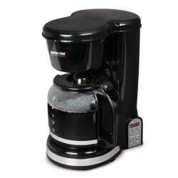 Better Chef 12-Cup Programmable Coffeemaker, Black