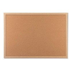 "U Brands Cork Bulletin Board, 23"" x 17"", Birch MDF Frame"