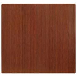 "Anji Mountain Bamboo Roll-Up Chair Mat, 48"" x 52"", 1/4""-Thick, Dark Cherry"