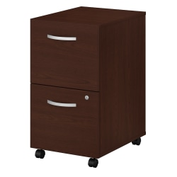 "Bush Business Furniture Studio C 20-1/6""D Vertical 2-Drawer Mobile File Cabinet, Harvest Cherry, Standard Delivery"