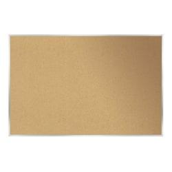 "Ghent Cork Bulletin Board, 48 1/2"" x 144 1/2"", Silver Aluminum Frame"