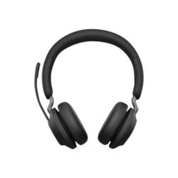 Jabra Evolve2 65 Uc Stereo Headset On Ear Bluetooth Wireless Usb C Noise Isolating Black Office Depot