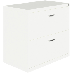 "Lorell® 36""W Lateral 2-Drawer File Cabinet With Arc Pull, White"