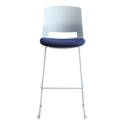 Lorell® Artic Series Stack Stools, White/Blue, Set Of 2