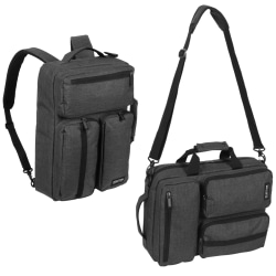 "Kenneth Cole Reaction Convertible Backpack With 15.6"" Laptop Pocket, Charcoal"