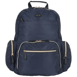 """Kenneth Cole Reaction Sophie Computer Backpack With 15"""" Laptop Pocket, Navy"""