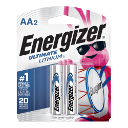 Energizer® Photo Ultimate AA Lithium Batteries, Pack Of 2