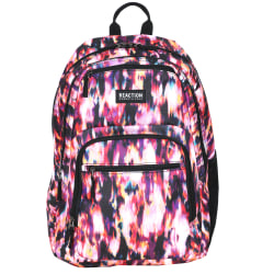 "Kenneth Cole Reaction Polyester Double Gusset Computer Backpack With 15.6"" Laptop Pocket, Ikat"