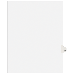 """Avery® Avery-Style 20% Recycled Collated Legal Index Exhibit Dividers, 8 1/2"""" x 11"""", White Dividers/White Tabs, Tab Style No. 18"""