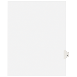 """Avery® Avery-Style 20% Recycled Collated Legal Index Exhibit Dividers, 8 1/2"""" x 11"""", White Dividers/White Tabs, 19, Pack Of 25"""