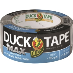 """Duck MAX Strength Weather Duct Tape - 20 yd Length x 1.88"""" Width - 1 Each - Silver"""