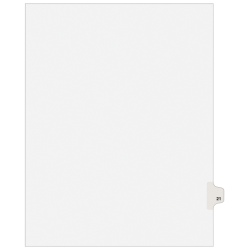 """Avery® Avery-Style Collated Legal Index Exhibit Dividers, 8 1/2"""" x 11"""", White Dividers/White Tabs, Tab Style No. 21"""