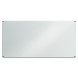 "Lorell® Glass Frameless Dry-Erase Board, 36"" x 72"", White"