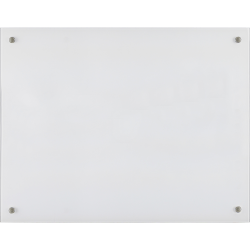 "Lorell® Non-Magnetic Unframed Dry-Erase Glass Whiteboard, 48"" x 36"", Frost"
