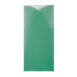 Office Depot® Brand Plastic Tri-Fold Folder, 4 Pocket, Nonstandard size, Mint, Pack of 1