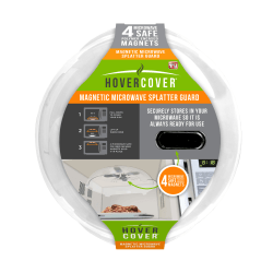 """Hover Cover Magnetic Microwave Splatter Guard, 12"""", Clear"""