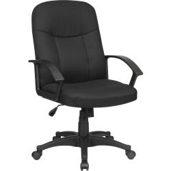 Lorell® Executive Ergonomic Fabric Mid-Back Task Chair, Black