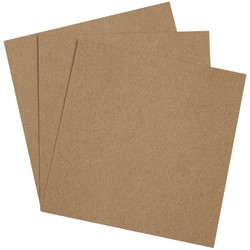 "Office Depot® Brand Chipboard Pads, 10"" x 10"", 100% Recycled, Kraft, Case Of 800"