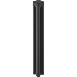 "Lorell Desktop Panel System Post - 1.6"" Width x 1.6"" Depth x 12.4"" Height - Black"