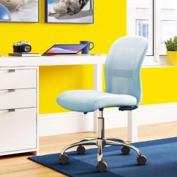 Serta® Essentials Mid-Back Computer Chair, Blue Sky/Chrome