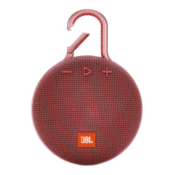 JBL Clip 3 Portable Bluetooth® Speaker, Red, JBLCLIP3RED