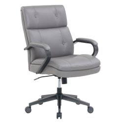 Serta® SitTrue™ Belterra Mid-Back Manager Chair, Gray