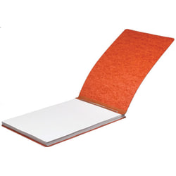 """ACCO® Pressboard Report Cover With Fastener, Side Bound, 11"""" x 17"""", 60% Recycled, Earth Red"""