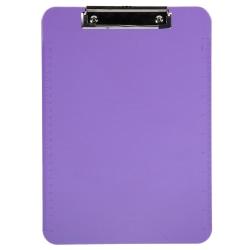 "JAM Paper® Plastic Clipboards with Metal Clip, 9"" x 13"", Purple"