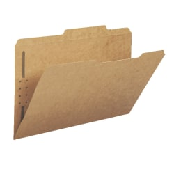 Smead® 2-Ply Folders, 1/3 Cut, Legal Size, Kraft, Pack Of 50