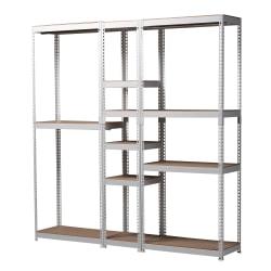 "Baxton Studio Closet Storage Organizer, 82-3/4""H x 78-3/4""W x 15-3/4""D, White"