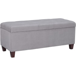 Linon Home Décor Products Rae Storage Ottoman, Gray