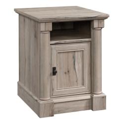 "Sauder® Palladia Side Table With Door, 25-3/8""H x 19-7/8""W x 23""D, Split Oak"