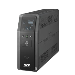 APC® Back-UPS Pro 10-Outlet Tower Uninterruptible Power Supply, 1,500VA/900 Watts, BN1500M2