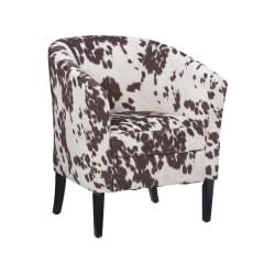 Linon Cullman Microfiber Club Chair, Brown Cow