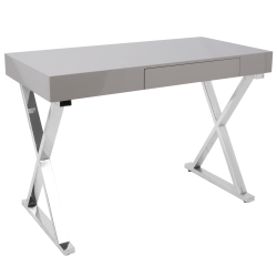 Lumisource Luster Computer Desk, Gray
