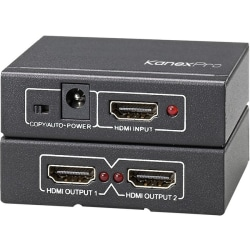 KanexPro 4K UHD HDMI 1x2 Port Splitter - 60 Hz to 60 Hz - HDMI In - HDMI Out