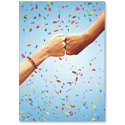 """Viabella Congratulations Greeting Card With Envelope, Fist Bump, 5"""" x 7"""""""