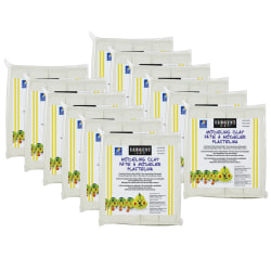 Sargent Art Non-Hardening Modeling Clay, Cream, 1 Lb Per Pack, Set Of 12 Packs