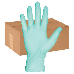 ProGuard Aloe Coated Vinyl General Purpose Gloves - Extra Large Size - Vinyl - Green - Powder-free, Disposable, Beaded Cuff, Ambidextrous, Durable, Comfortable - 1000 / Carton - 4 mil Thickness