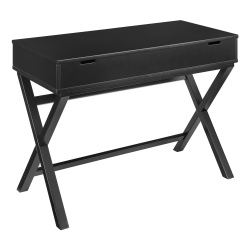 "Linon Lacey 42""W Lift-Top Desk, Black"