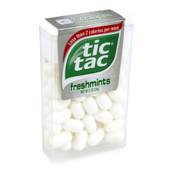 Tic Tac Freshmint Singles, 1 Oz, Pack Of 12 Boxes