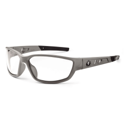 Ergodyne Skullerz® Safety Glasses, Kvasir, Matte Gray Frame, Clear Lens