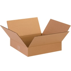 "Office Depot® Brand Corrugated Boxes, Flat, 3""H x 13""W x 13""D, Kraft, Pack Of 25"