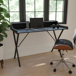 Flash Furniture Computer Desk With Top Shelf, Black