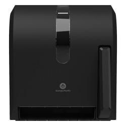 "GP PRO™ Universal Push-Paddle Paper Towel Dispenser, 14-7/16""H x 12-1/2""W x 10-5/8""D, Smoke"