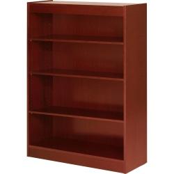 "Lorell® Veneer Bookcase, 4-Shelf, 48""H, Cherry"