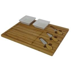 GNBI Cheeseboard Set, Bamboo/White